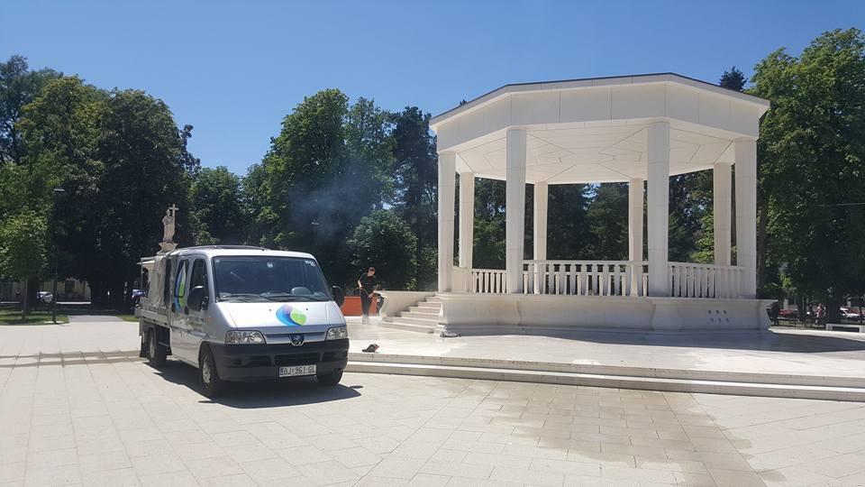 Pranje glazbenog paviljona, Bjelovar